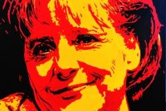 Angela Merkel 1. 2010,akryl na plátno, formát 125x95 cm