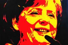 Angela Merkel 2, 2010,akryl na plátno, 90x70