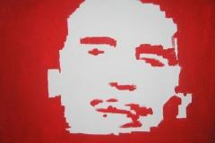 Arnold. 2005,akryl na plátno,formát 55 X 70cm