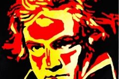 Beethoven, 2011, kombinovaná technika na plátno, 95 x 70 cm