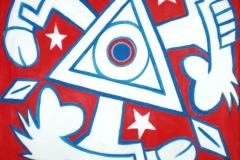 Boží oko. 2008. Akryl na plátno. 95cm X 75cm.