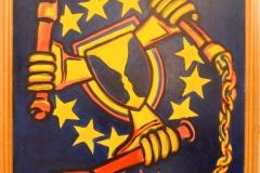 Eurohusiti. 2009. Akryl na plátno, formát 68cm X 87cm.